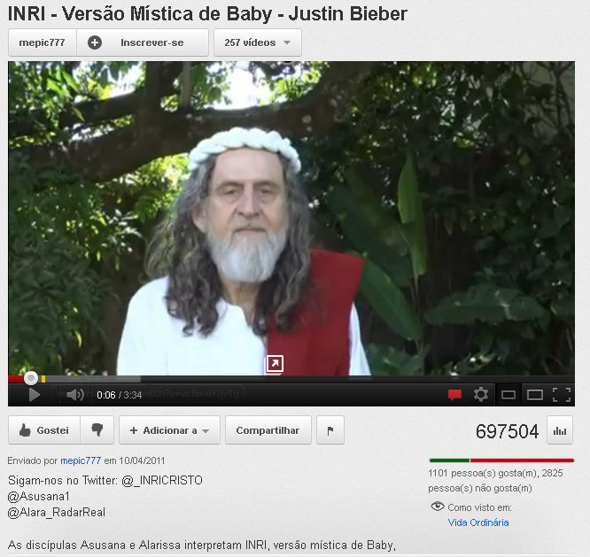 video no youtube inri cristo