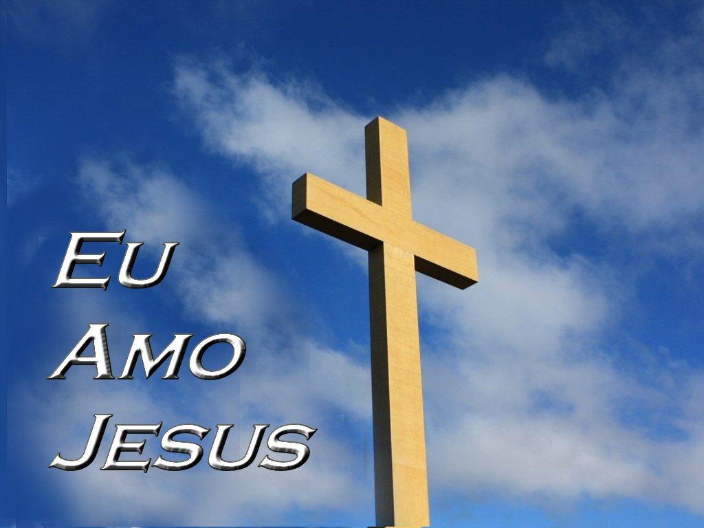 Papel de Parede Eu amo a Jesus